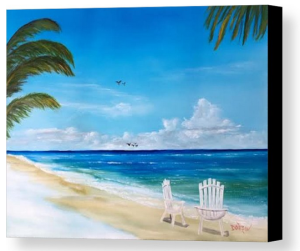"""Relaxing At The Beach"" Canvas Print BUY"