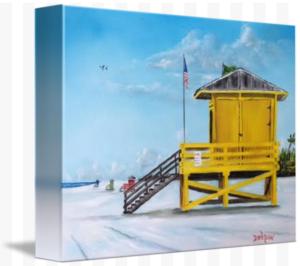 """Siesta Key Yellow Lifeguard Shack"" Starting at $75 BUY"