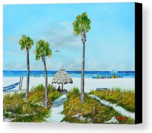 """Sirata Beach Resort Paradise Beach"" Canvas Print - BUY"