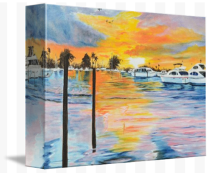 """Sunset At The Yacht Club"" Starting at $75 BUY"