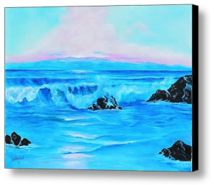 """Surf At Sunset"" Canvas Print BUY"