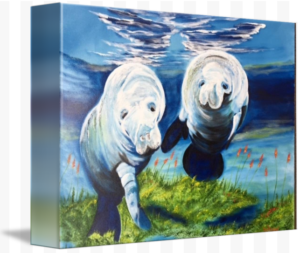 """Two Curious Manatees"" Starting at $75 BUY"