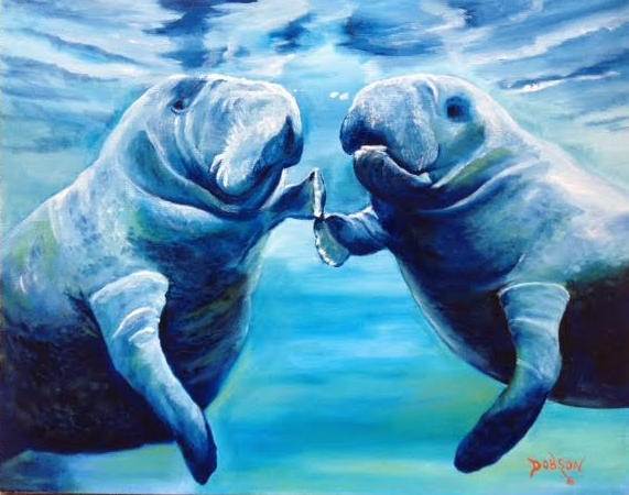 Affordable Manatee Original Oil Paintings