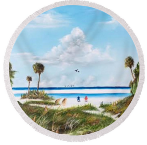 "In Paradise"" Round Beach Towel BUY"
