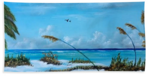 """Sea Grass On The Key"" Beach Towel BUY"