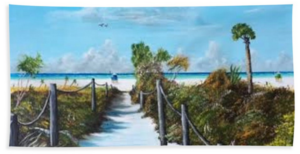 """Siesta Beach Access"" Beach Towel BUY"