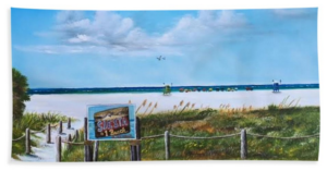 """Siesta Key Public Beach "" Beach Towel BUY"