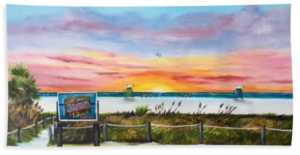 """Sunset At Siesta Key Public Beach"" Beach Towel BUY"