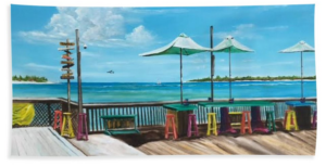 """Sunset Pier Key West"" Beach Towel BUY"