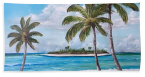 """Tropical Island"" Beach Towel BUY"