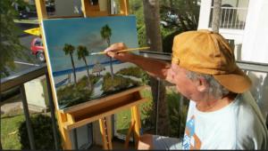 Lloyd_Dobson_Painting_A_Beach_Scene_#1