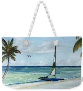 """""""Catamaran On The Beach"""" Weekender Tote Bag BUY"""