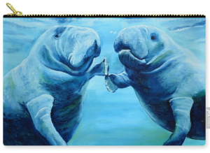 """Manatees Socializing"" Carry-all Tote Bag BUY"