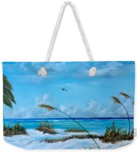 """""""Sea Grass On The Key"""" Weekender Tote Bag BUY"""