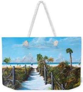 """""""Siesta Beach Access"""" Weekender Tote Bag BUY"""