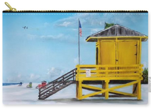 """Siesta Key Lifeguard Shacks"" Carry-all Pouch BUY"