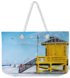 """""""Siesta Key Lifeguard Shacks"""" Weekender Tote Bag BUY"""