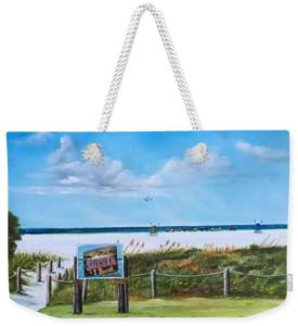 """""""Siesta Key Public Beach"""" Weekender Tote Bag BUY"""