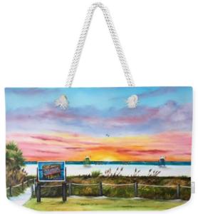 """""""Sunset At Siesta Key Public Beach"""" Weekender Tote Bag BUY"""