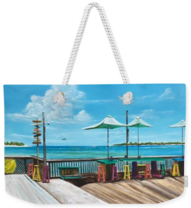 """""""Sunset Pier Key West"""" Weekender Tote Bag BUY"""