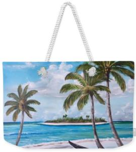 """""""Tropical Island"""" Weekender Tote Bag BUY"""