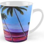 """Fishing Pier At Sunset"" Tall Mug BUY $15"