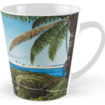 """Paradise Beach Access"" Tall Mug BUY $15"