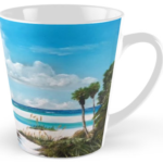 """Path On Siesta Key To The Red Lifeguard Stand"" Tall Mug BUY $15"