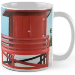 """Red Lifeguard Stand"" Std Mug BUY $15"