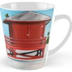 """""""Red Lifeguard Stand"""" Tall Mug BUY $15"""
