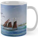 """""""Sail Boat At Sunset Pier Tiki Bar"""" Std Mug BUY $15"""