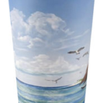 """Sail Boat At Sunset Pier Tiki Bar"" Travel Mug BUY $25"
