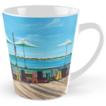 """Sunset Pier Tiki Bar"" Tall Mug BUY $15"