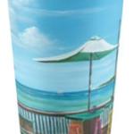 """""""Sunset Pier Tiki Bar"""" Travel Mug BUY $25"""