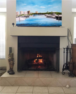 1_-_Decorating_Above_Fireplace_With_-_Marina_Jack's_Painting