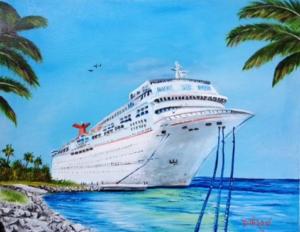 Art_-_#128915_-_My_Carnival_Cruise_-_16x20