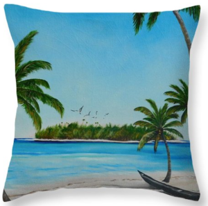 Art_-_Abandon_Boat_In_Paradise_-_Throw_Pillow