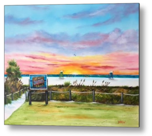 Art_-_Sunset_At_Siesta_Key_Public_Beach_-_Metal_Print